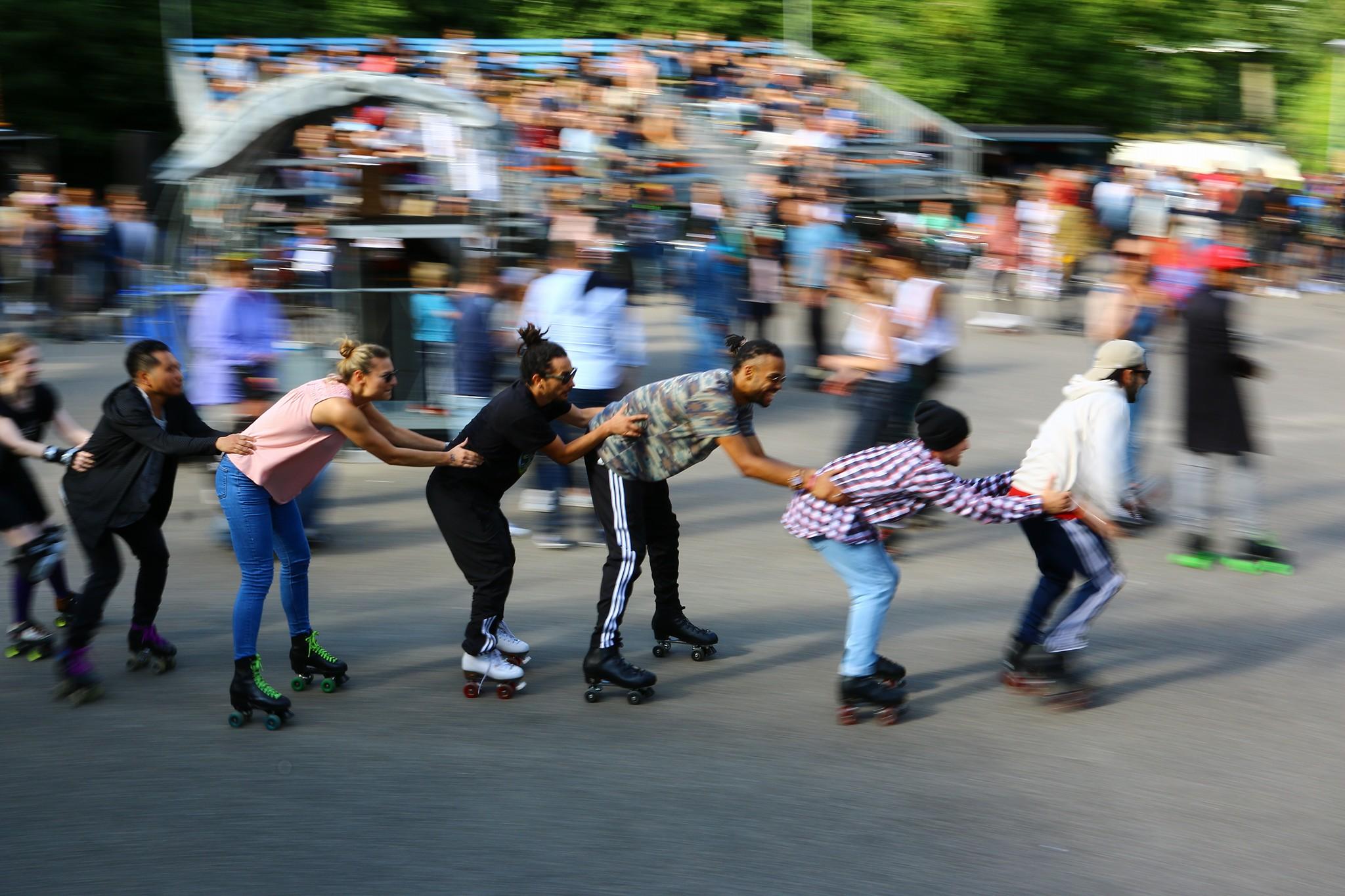 The annual Roller Skate Jam