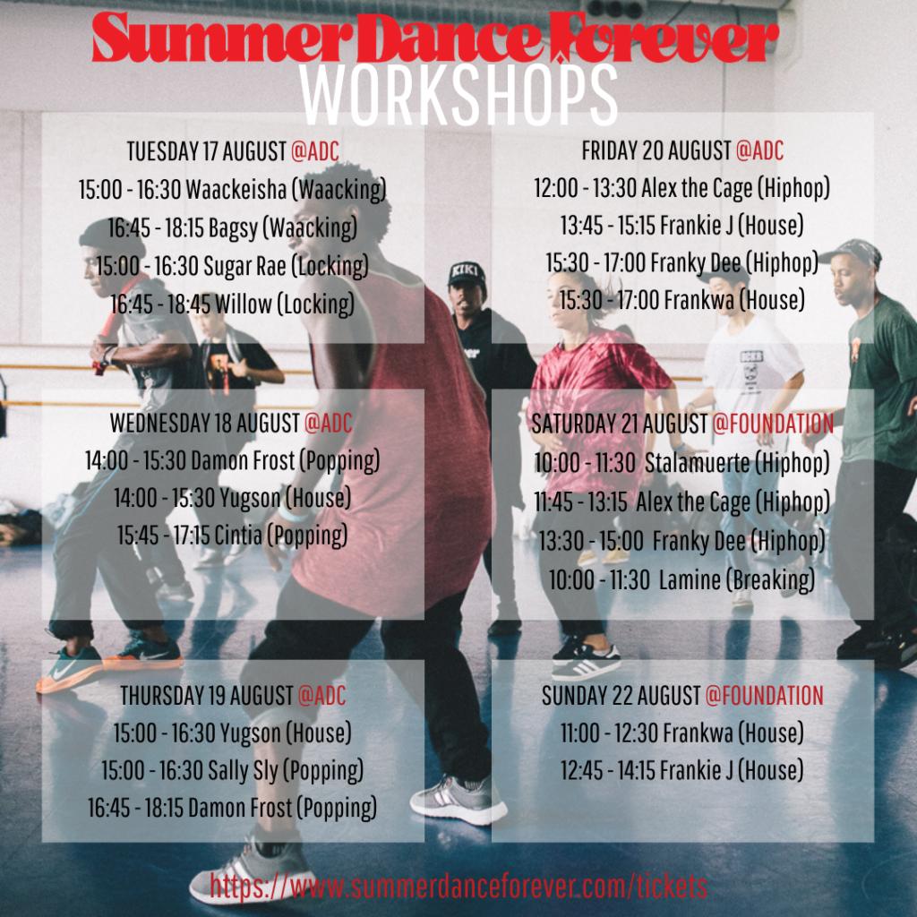workshops summer dance forever